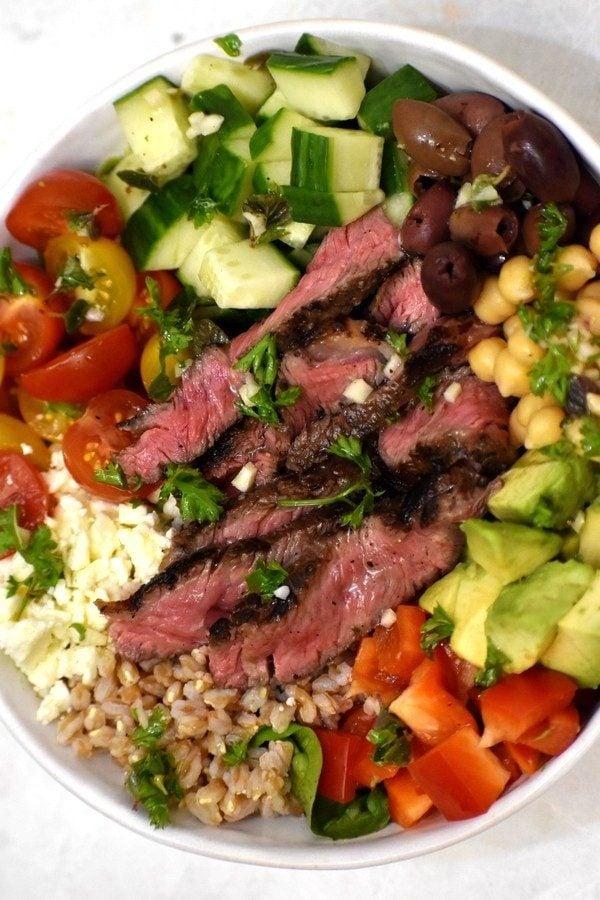 The 40 BEST Steak Recipes - Greek steak salad.