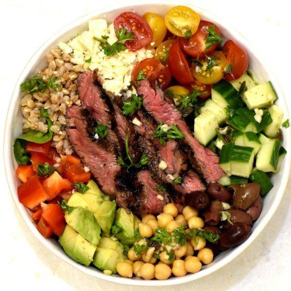Greek Steak Salad Bowl