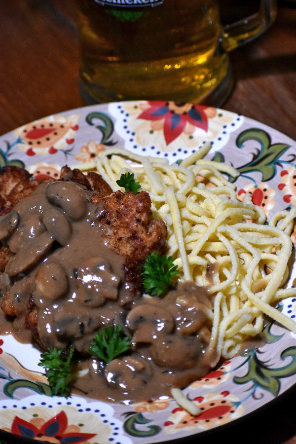 jagerschnitzel on the gypsy plate