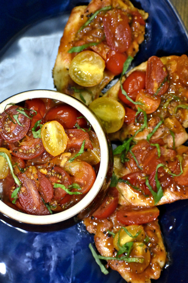 The 30 BEST Easy Weeknight Dinners - tomato basil chicken.
