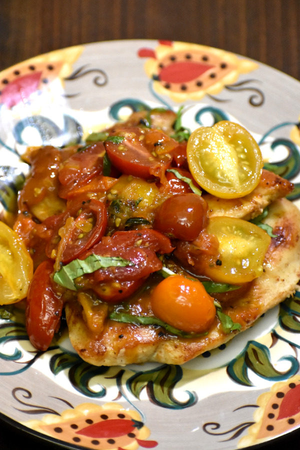 tomato basil chicken on the gypsy plate