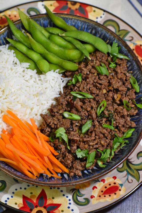 korean ground beef bowl atop the gypsy plate