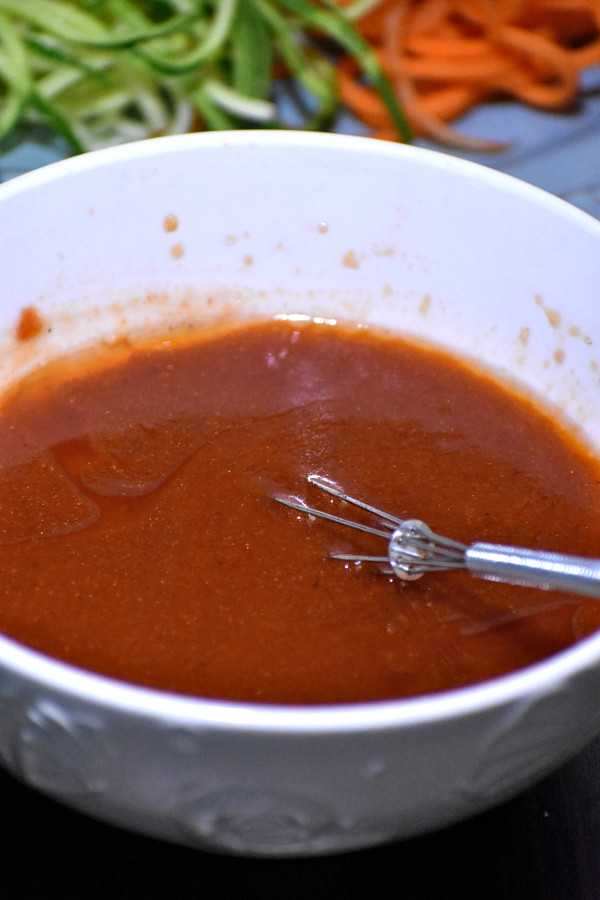 catalina dressing in a white bowl with a whisker