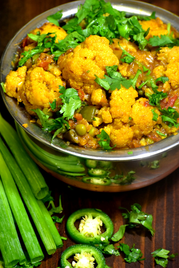 The 35 BEST Cauliflower Recipes - gobi matar.