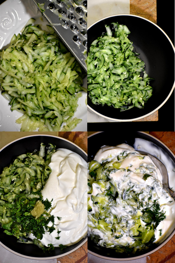 collage showing the steps to make this great sauce
