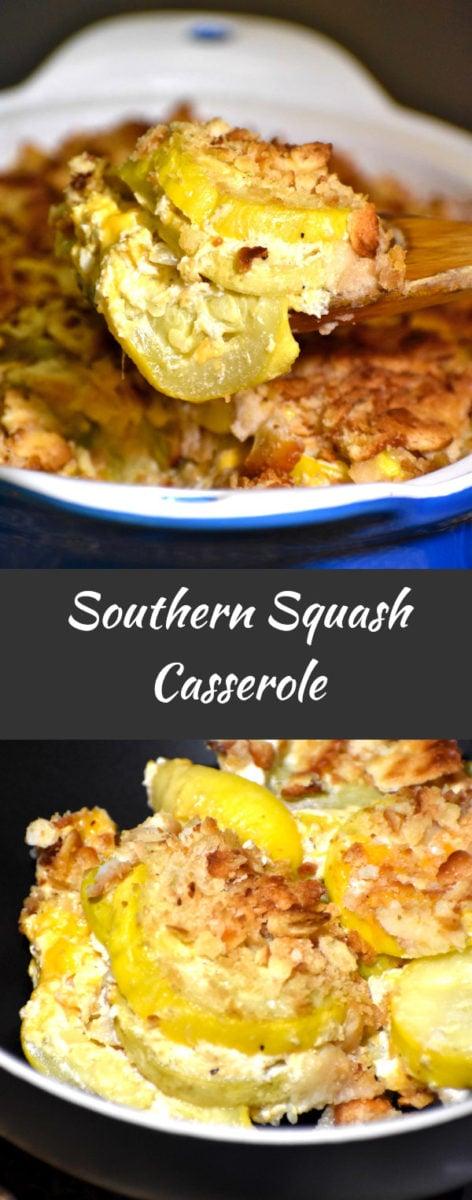 long pin of southern squash casserole