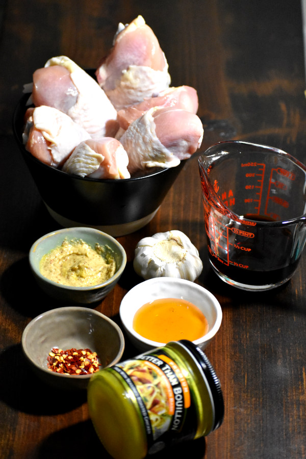 ingredients for baked honey mustard chicken