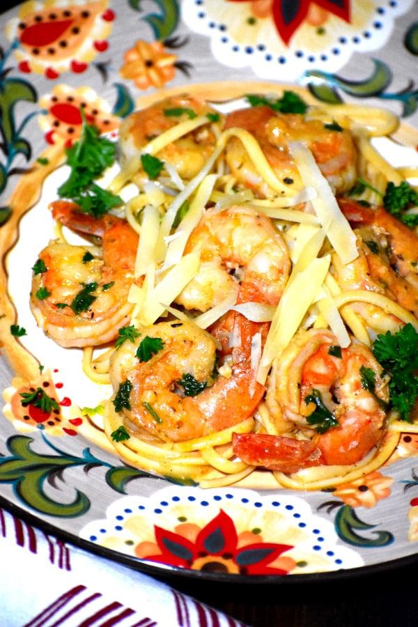 cajun shrimp scampi on the gypsy plate