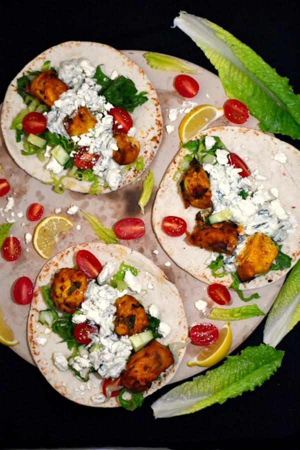 The 35 BEST Pita Recipes - chicken tikka gyros.