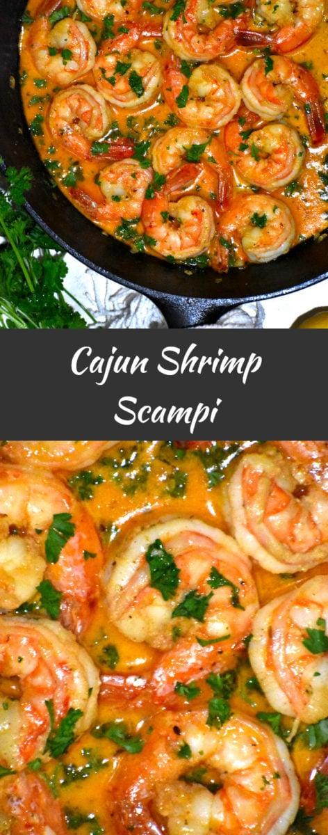 long pin of cajun shrimp scampi