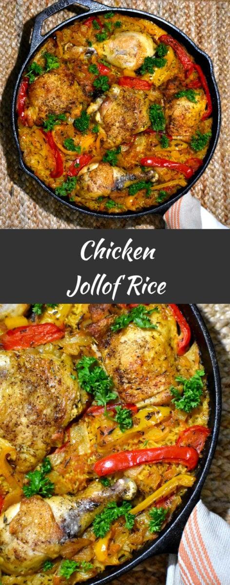 long pin of chicken jollof rice