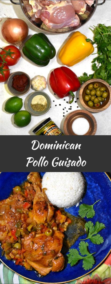 long pin of dominican pollo guisado