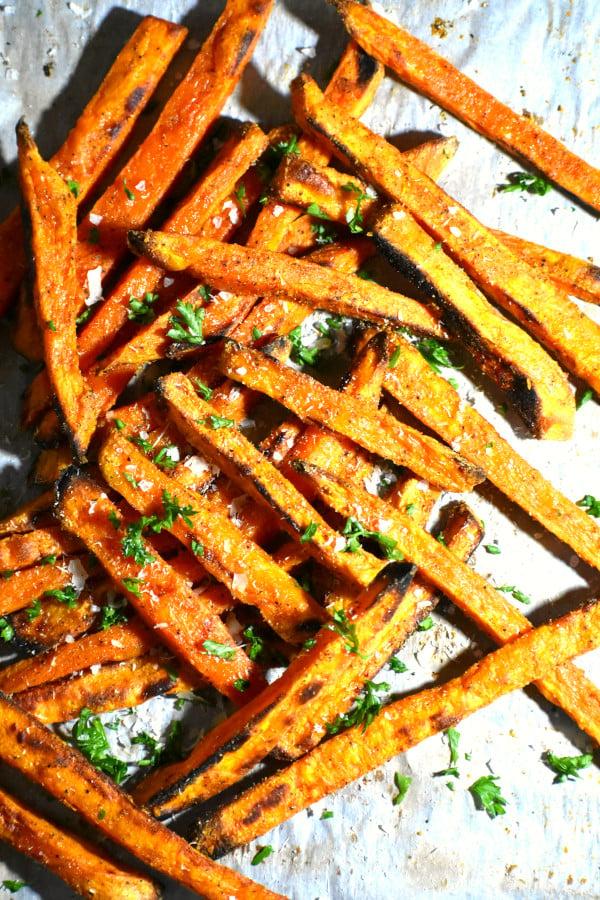 pile of sweet potato fries