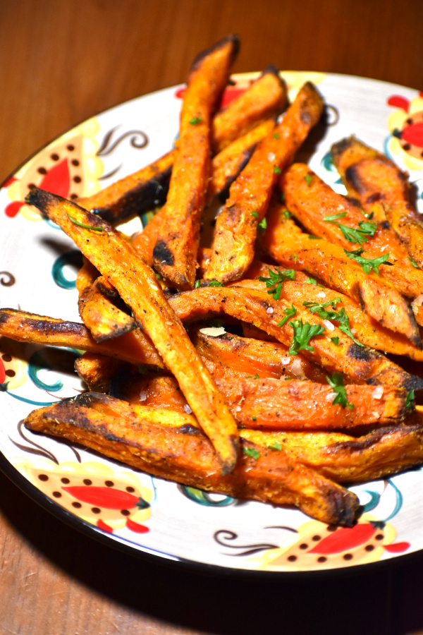sweet potato fries on the gypsy plate
