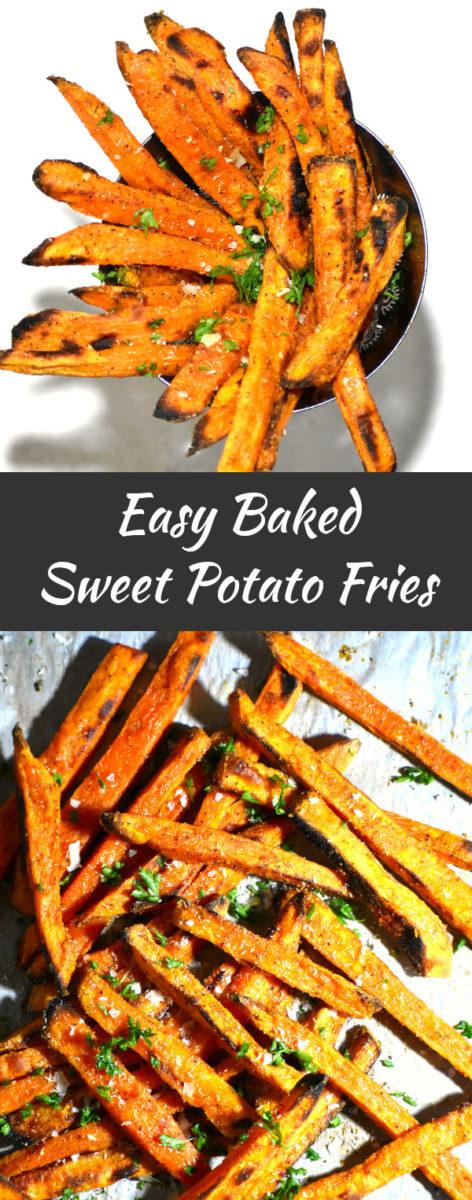 long pin of sweet potato fries