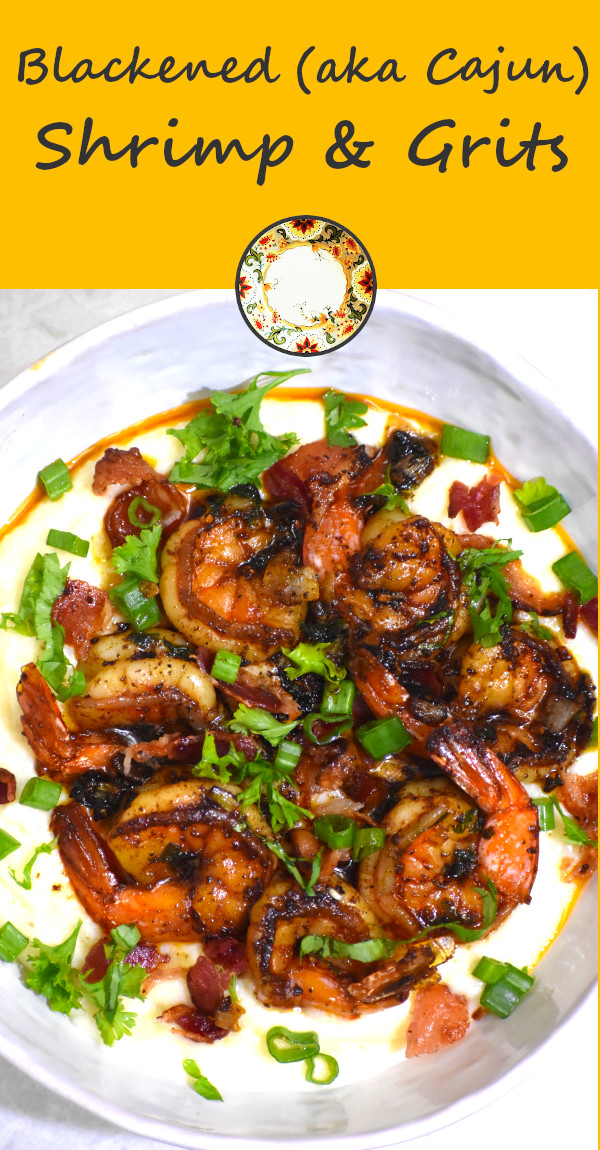 pinterest image of shrimp and grits
