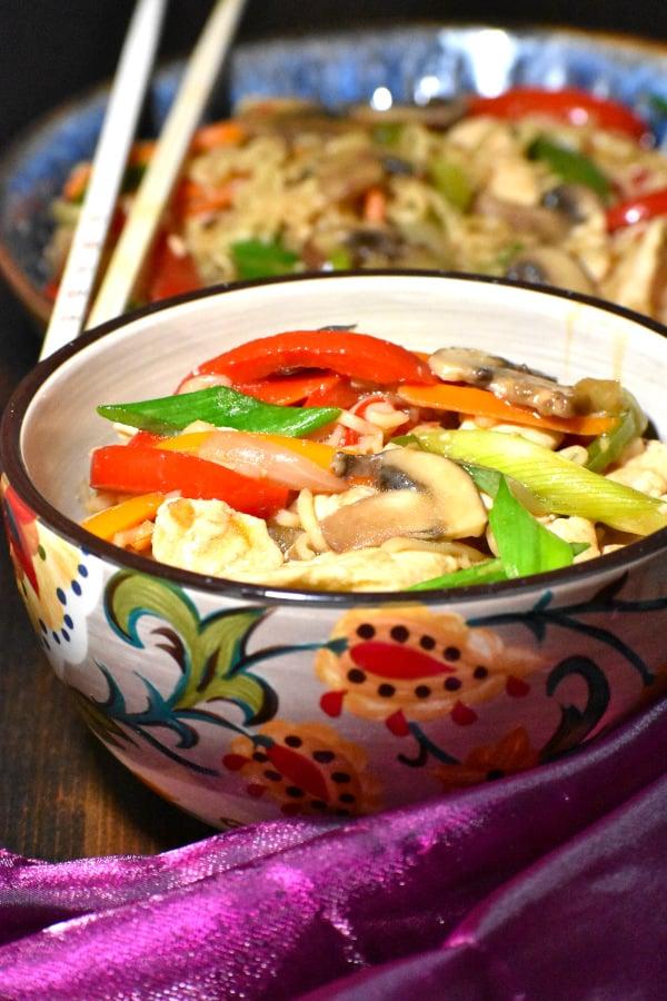 this ramen stir fry displayed in the gypsy bowl