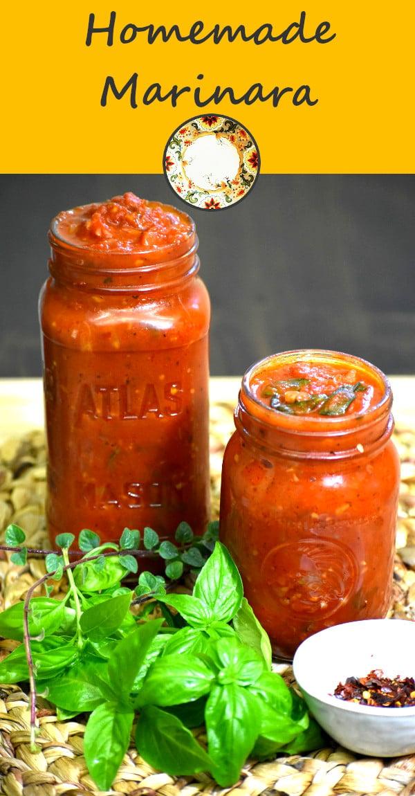Mmm, two jars full of homemade marinara