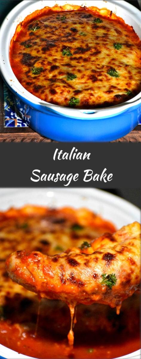 long pin of italian sausage bake