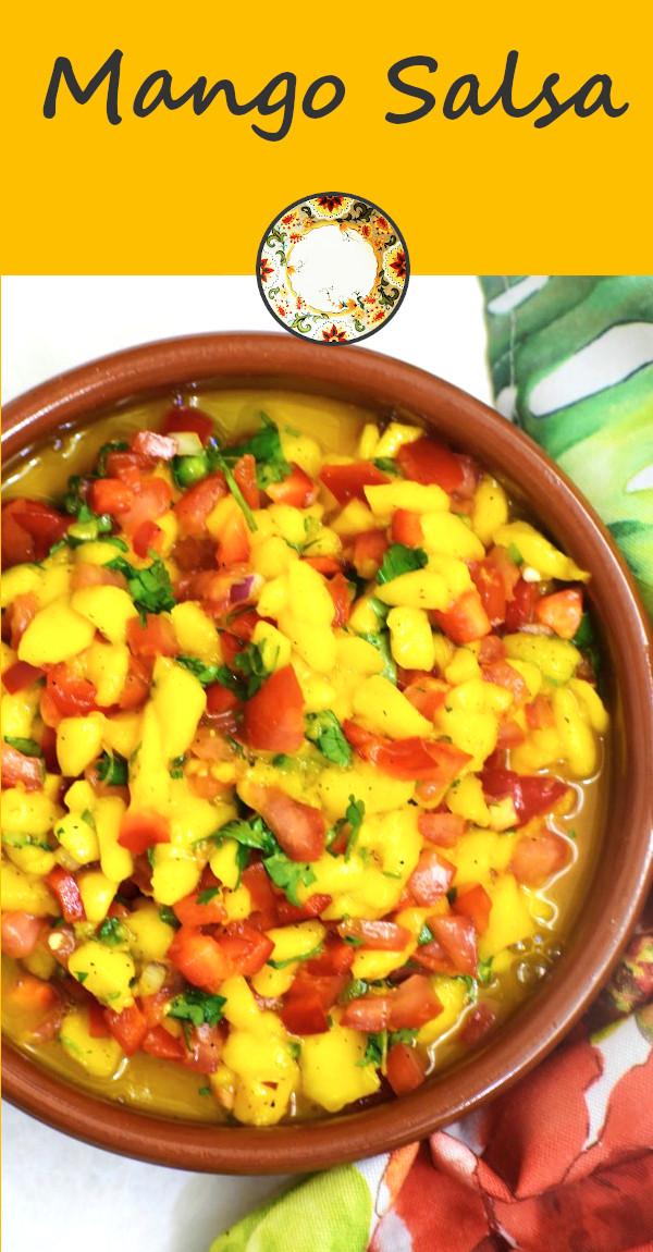 pinterest image for mango salsa