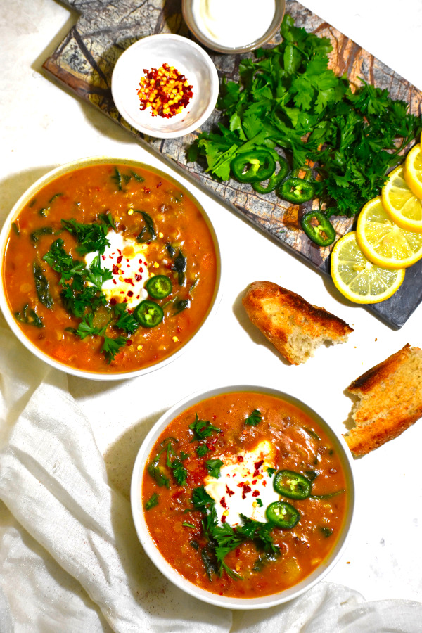 The 40 BEST Easy Dinner Recipes - Moroccan lentil soup.
