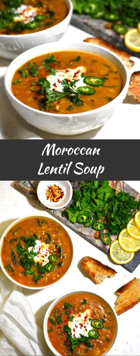 long pin of moroccan lentil soup
