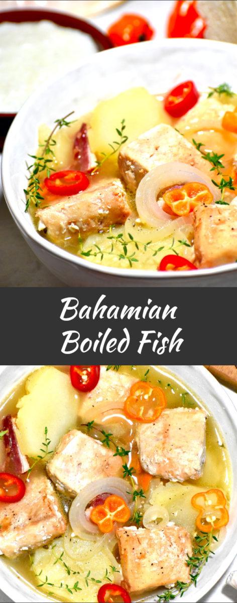 pinterest image of bahamian boiled fish