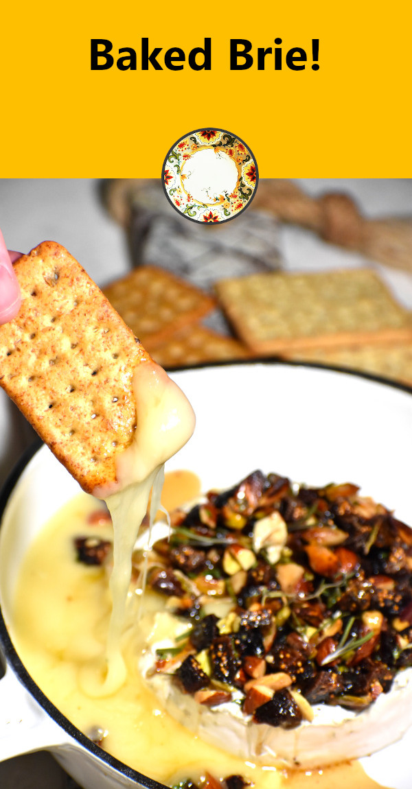 pinterest image for this baked brie