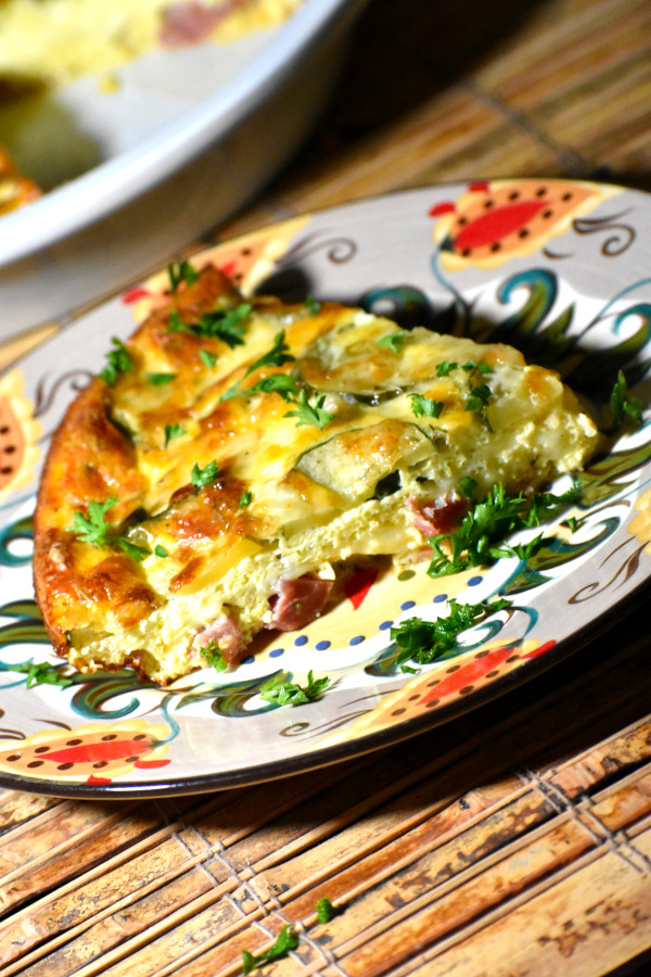 quiche on the gypsy plate