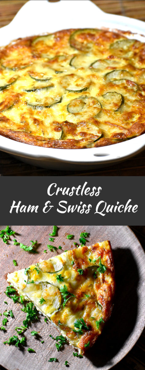long pin for crustless ham and swiss quiche