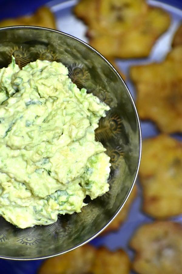 creamy green avocado cilantro sauce