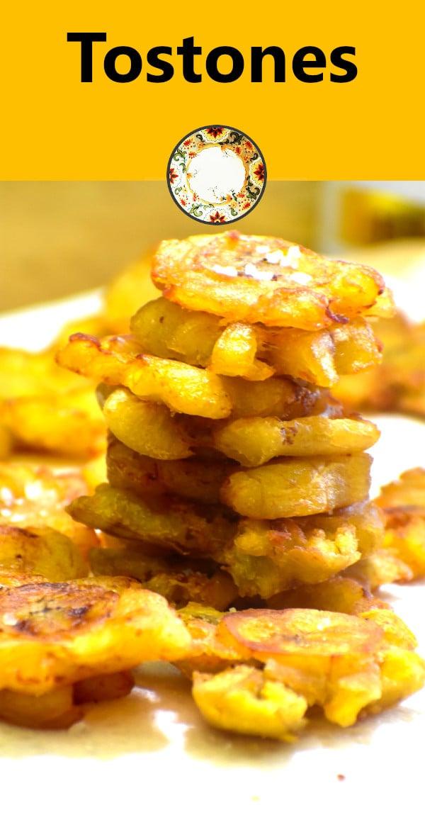 pinterest image of tostones