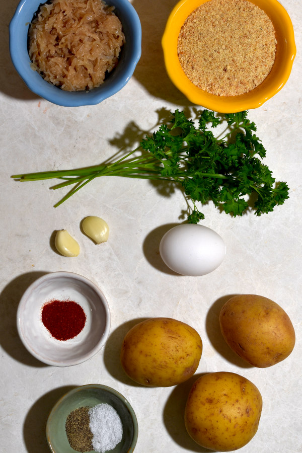 overhead shot of the ingredients for this dish