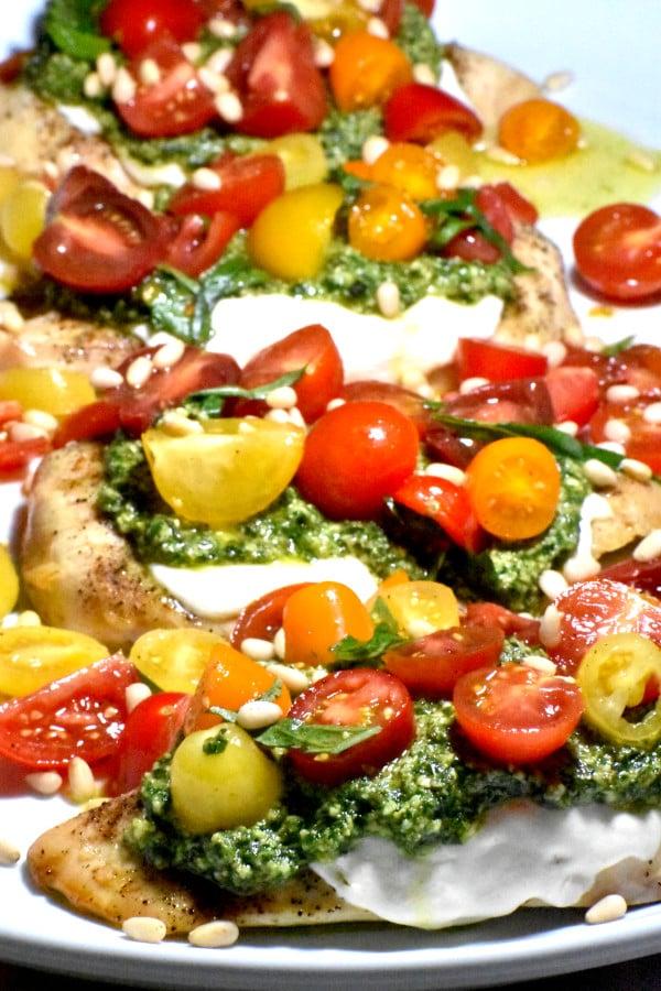 The 30 BEST Easy Weeknight Dinners - pesto bruschetta chicken.