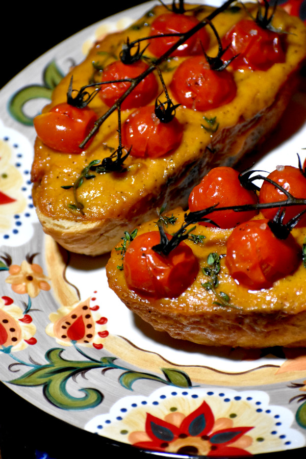 welsh rarebit on the gypsy plate