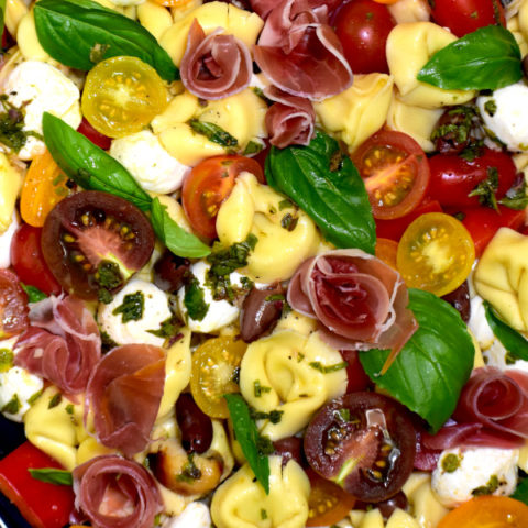 featured image for tortellini pasta salad with prosciutto