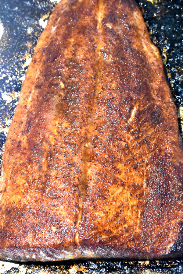 our salmon after baking
