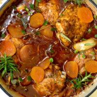 Mediterranean braised chicken.