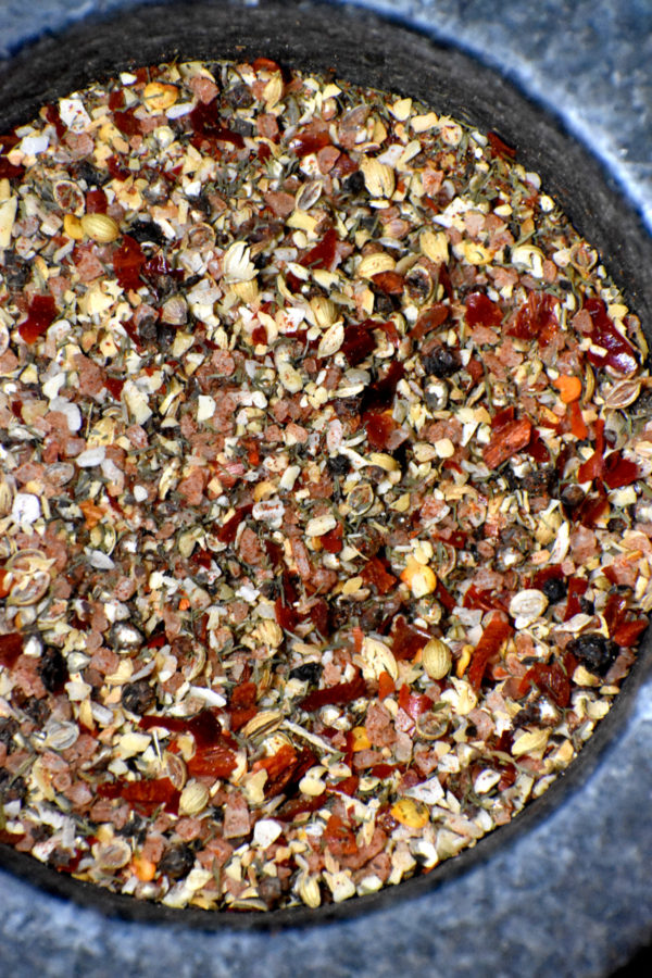 a close up of our montreal steak seasoning blend