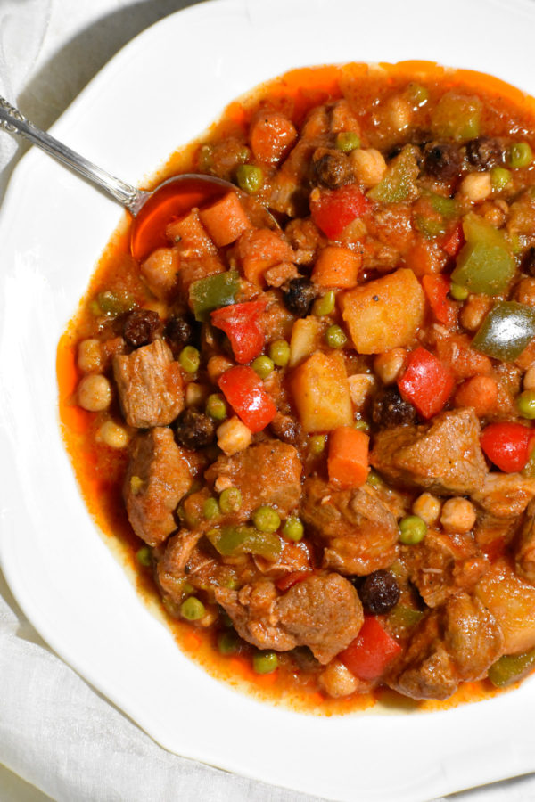 Close up of this yummy stew.