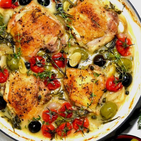 Chicken Provençal  (Poulet à la Provençal)