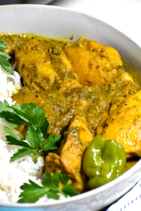 Close up of this curry.