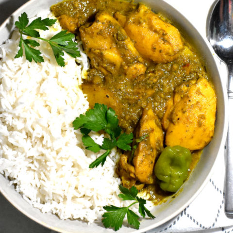 Featured image for Trinidadian Curry Chicken post.
