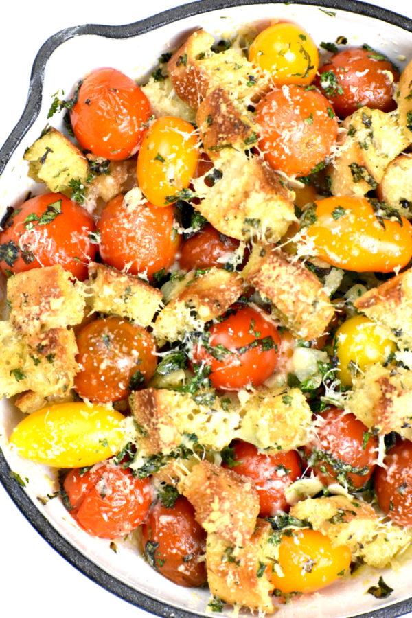 The 25 BEST Cherry Tomato Recipes - Cherry tomato gratin.
