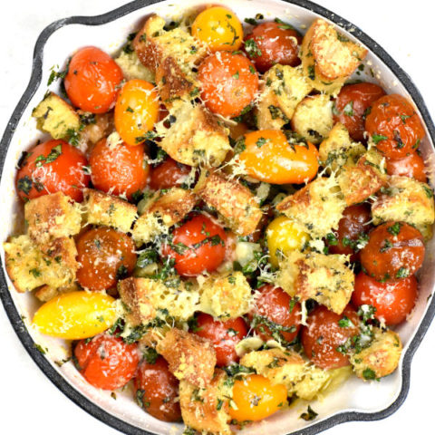Featured image for Cherry Tomato gratin post.