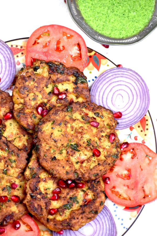 A pile of chapli kababs on the Gypsy Plate.