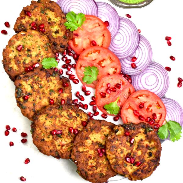 Chicken Chapli Kababs  (or any meat of your choice)