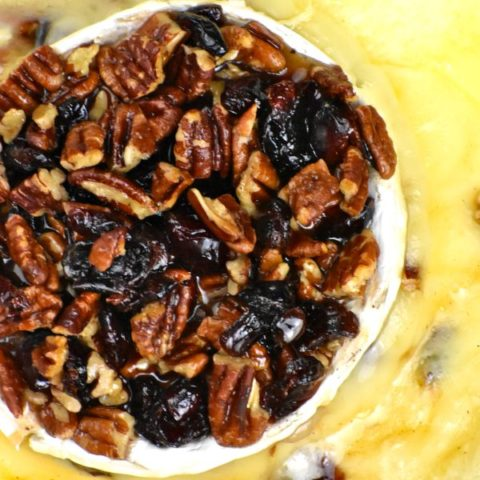 Featured image for cranberry pecan baked brie post.