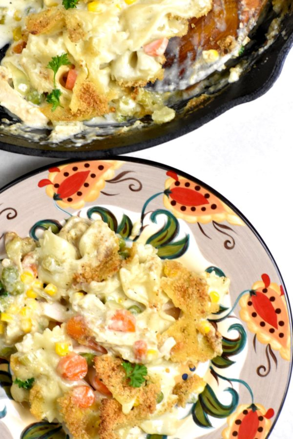 A serving of this casserole on the Gypsy Plate.