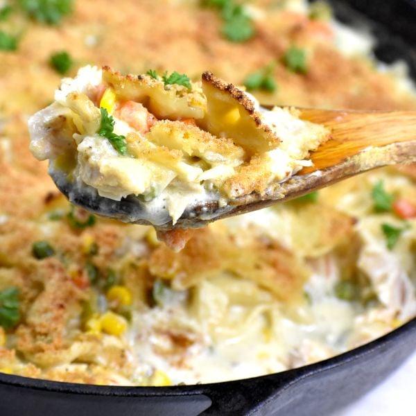 Crustless Rotisserie Chicken Pot Pie Casserole